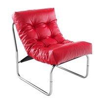 Fauteuil design 60x73x76cm rouge - BOUDA
