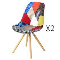 Lot de 2 chaises multicolore - PATCHWORK