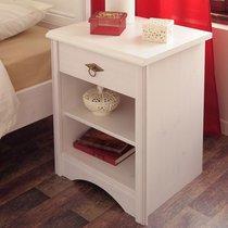 Chevet 1 tiroir 46x39x61cm coloris blanc - FLIRT