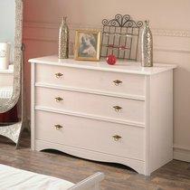 Commode 3 tiroirs 118x50x84cm coloris blanc - FLIRT