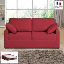 Canapé 2 places convertible 14cm coloris griotte LOIS
