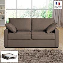 Canapé 2 places convertible 14cm coloris chocolat LOIS