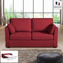 Canapé 2 places convertible 14cm coloris griotte CHARLES