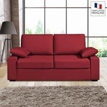 Canap� 2 places fixes - 100% coton - coloris griotte PLUTON