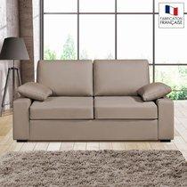 Canapé 2 places fixes - 100% coton - coloris beige PLUTON