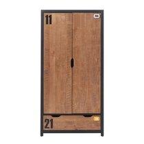 Armoire 2 portes 100 x 55 x 200 cm coloris marron
