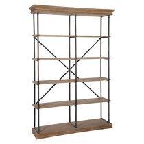 Etagère en métal et bois naturel 148x39x214cm