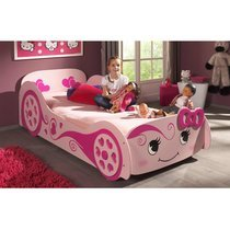 Lit voiture 213x68,3x101,4 cm rose