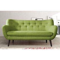 Canapé 3 places en tissu vert - ALPHA