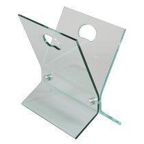 Porte revues en verre trempé design