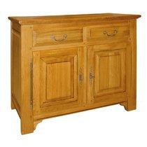 Bahut 2 portes 2 tiroirs en chêne massif - ACHELET