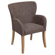 Chaise accoudoir rond coloris gris