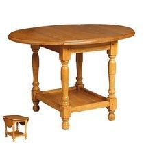 Petite table en chêne massif avec 2 abattants - ACHELET