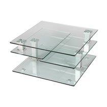 Table basse carrée en verre GLASS