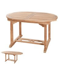 Table ovale extensible 120/180x90