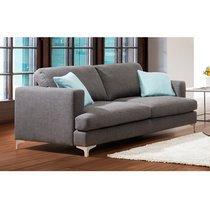 Canapé 2 places en tissu anthracite et pieds métal