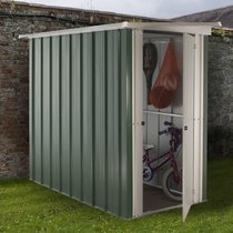 Abri Métal 1,90 m², portes : L60 x H158cm