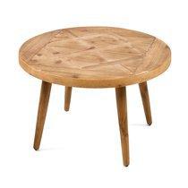 Table basse en bois naturel 70x70x45cm