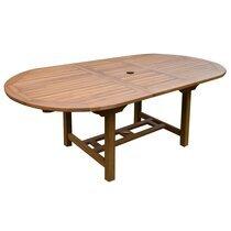 Table de jardin en teck 160/210x100x75cm