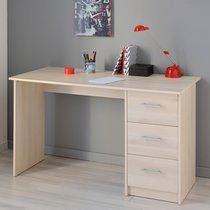 Bureau 3 tiroirs - acacia clair