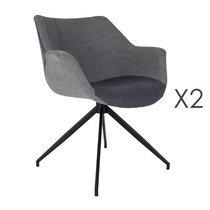 Lot de 2 fauteuils - gris