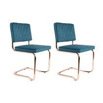 Lot de 2 chaises vintage - vert foncé