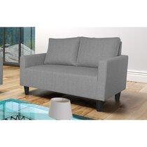 Canapé 2 places effet chiné - gris