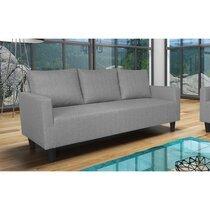 Canapé 3 places effet chiné - gris