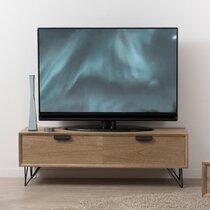 Meuble TV 1 porte 1 tiroir bois naturel - JADE