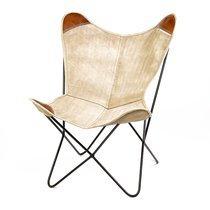 Chaise tissu gris et métal 71x74x92cm