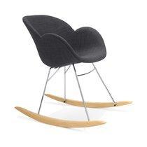 Chaise à bascule en tissu noir - SWING