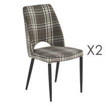 Lot de 2 chaises Minsk Ecossaise 46x60x89cm
