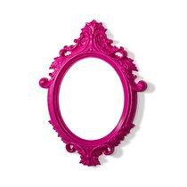 Miroir ovale rose