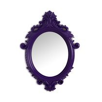 Miroir oval violet