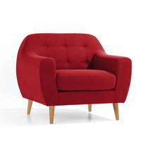 Fauteuil scandinave rouge - SCANDI
