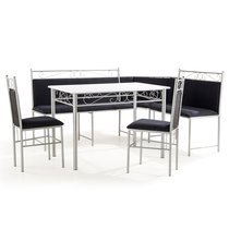 Set Table + banc MDF noir