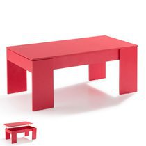 Table basse relevable rouge - EVOPLUS