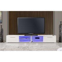 IOWA Meuble TV Led Blanc