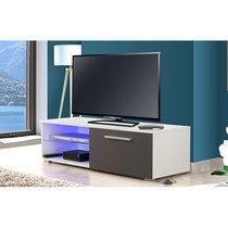 Meuble TV Led blanc gris - TAYS