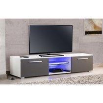Meuble TV Led Blanc/Gris - USAHA