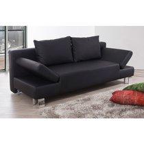 Canapé lit noir - LYSTO