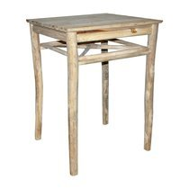 Table de bar 80x80x110cm en teck naturel - ALPAGA