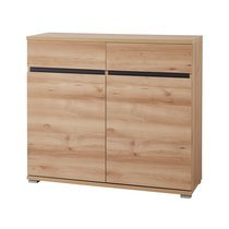 Commode 2 portes 2 tiroirs en bois