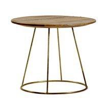 Table basse 50x40cm en manguier et métal