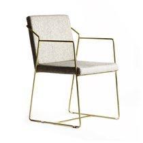 Chaise tissu et métal
