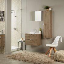 Colonne salle de bain 1  porte décor chêne