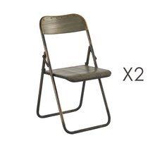 Lot de 2 chaises Pliante 46.5x49.5xH83cm