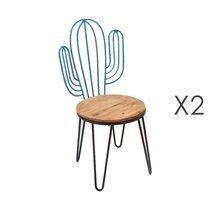 Lot de 2 chaises 51x45xH88.5cm - Cactus
