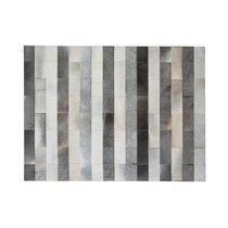 Tapis 200x300 cm en cuir tons gris