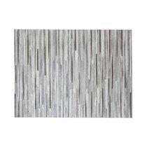 Tapis 200x300 cm en cuir tons gris effet parquet